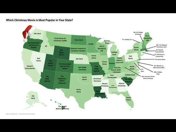 "A Company Compiled A ""Most Popular Christmas Movie By State"" List and It Is Gold"