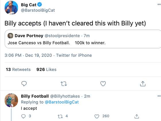 BILLY FOOTBALL VS JOSE CANSECO AT ROUGH N ROWDY WITH $100K FOR THE WINNER?????