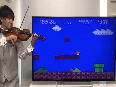 This Violinist Playing The Music And Sound Effects From Super Mario Bros. Is The Epitome Of High Society Content