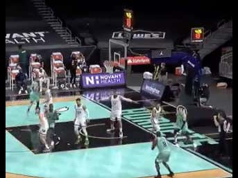The Hornets Announcer Nearly Had A Heart Attack When Bismack Biyombo Decided To Shoot A Three