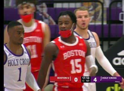 Let's All Be Grateful Boston University Basketball's Highly Effective Mask Policy