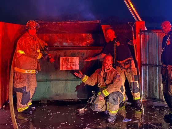 When Life Imitates Art - The Last Call In 2020 To A Central Florida Fire Station Was For A Literal Dumpster Fire
