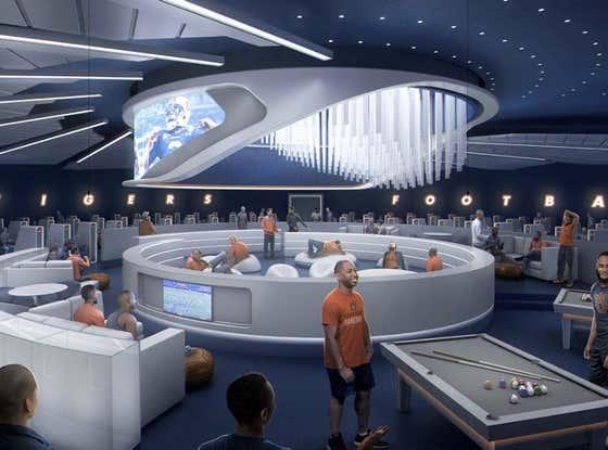 Auburn's New Football Facility Will Feature a Spaceship-Like Lounge, Flight Simulator and Recording Studio