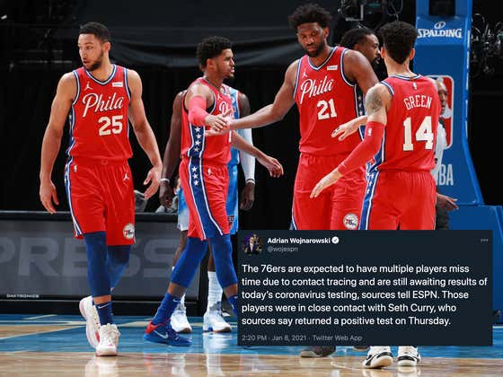 Multiple Sixers Will Now Have To Miss Time Due To Covid Contract Tracing, Because Obviously Things Were Going To Well