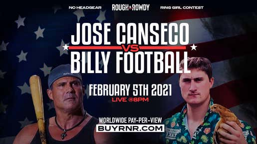 Jose Canseco Has OFFICIALLY Signed To Fight At Rough N Rowdy 13 VS. Billy Football... Here's The Full Recap Of Their Storied Rivalry