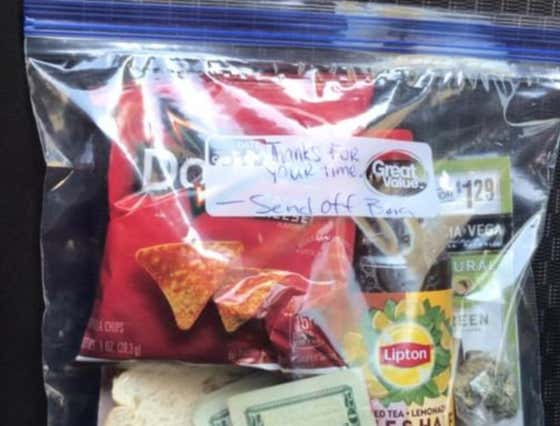 Thoughtful Man Provides Morning-After 'Sendoff Bags' For Women He Sleeps With Including Cash, Tea & Doritos