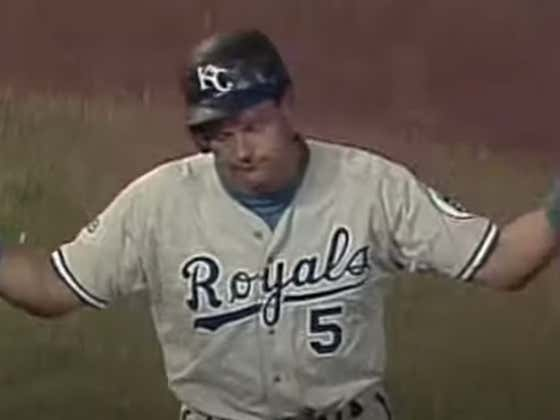 Wake Up With George Brett Getting His 3,000th Career Hit....And Then Immediately Getting Picked Off First Base