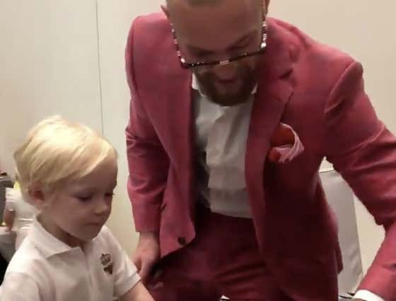 Conor McGregor Jr Signing Posters With His Dad Is The Cutest Thing Ever