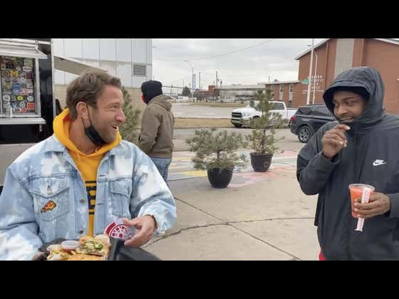 Barstool Pizza Review (3rd Street Detroit Philly Sandwich) Detroit 75 Kitchen Food Truck