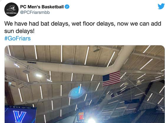 Villanova And Providence Just Had Their Indoor Basketball Game Delayed Because Of.... The Sun