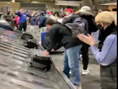 Bills Mafia Has Landed In Kansas City And Are Already Singing Their Battle Hymn (UPDATE: The Folding Tables Have Arrived)