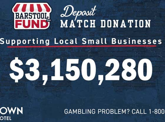 Final Count: Penn National Donated Over $3 Million To The Barstool Fund Over The Weekend
