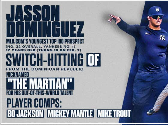 17 Year Old Jasson Dominguez Who's Compared To Bo Jackson, Mantle, And Trout is Now The 32nd Ranked Prospect In Baseball Without Playing a Single Minor League Game