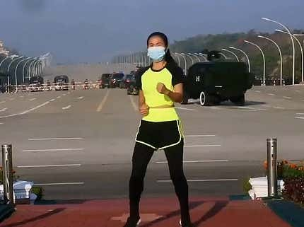This Teacher Who Made an Aerobics Video During the Myanmar Coup is My New Queen