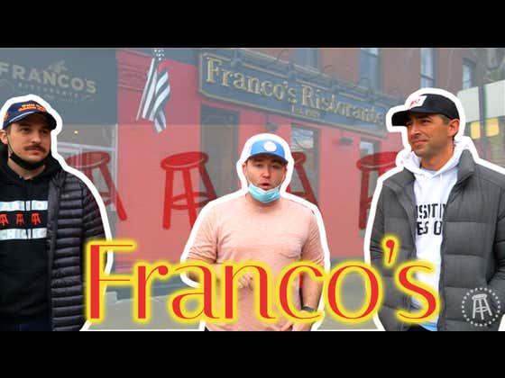 Barstool Chicago Small Business Feature - Franco's Ristorante With White Sox Dave, Chief, and Dante