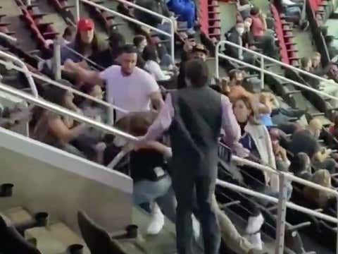 We Had A Solid Brouhaha In The Upper Deck During The Spurs/Rockets Game With Kicks And Wild Ass Punches