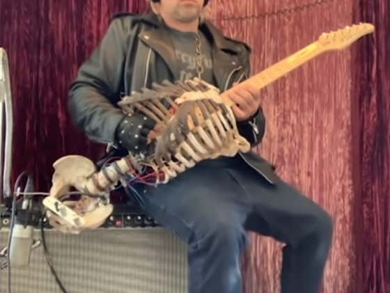 Meet The Heavy Metal Rocker Who Turned His Dead Uncle Into A Skeleton Guitar