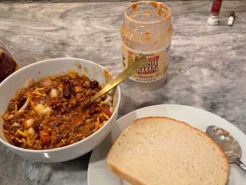 I Have Many Questions About Will Compton Dipping His Peanut Butter Sandwich INTO His Chili