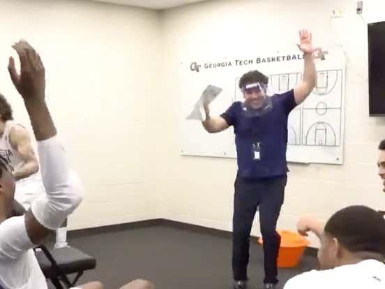 Nobody Does Locker Room Celebrations Better Than Josh Pastner