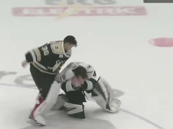 What Gets The Boys Buzzing More--A Goalie Goal Or A Goalie Fight?