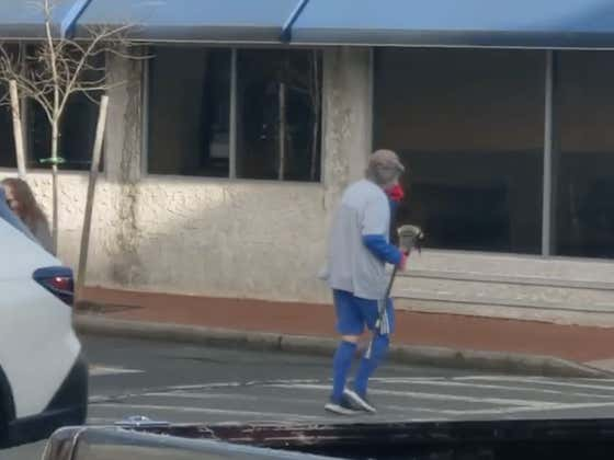 I Wish This Old Dude Cruising Around Town With His Lax Stick Was My Grandpa