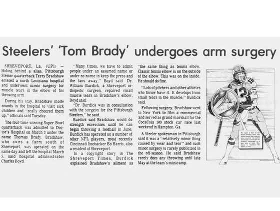 There's a Glitch in the Matrix: In 1983 Terry Bradshaw Checked into a Hospital Under the Name 'Tom Brady'