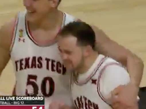 Texas Tech Student Manager Gets Eligible THIS MORNING, Checks In On Senior Night And Immediately Gets The Crowd Going By Taking A Charge