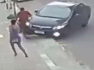 WILD Video Out Of Brazil Of A Guy Stealing A Woman's Phone Then Getting His Ass Run Over, Jump Kicked, And Beaten Down By A Bunch Of Good Samaritans