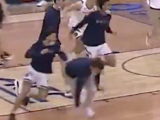 This Notre Dame Buzzer Beater Is Awesome And All, But The Real Highlight Is This Injured Dude Getting Laid Out By A Teammate Celebrating