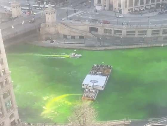 TOP OF THE MORNIN' TO YA: Some Heroes Dyed The Chicago River Green After The City Said It Would Be Canceled