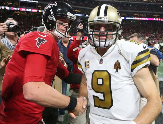 The Falcons Making a Tribute Video for Drew Brees Is the Biggest Load of Bullshit I've Ever Seen
