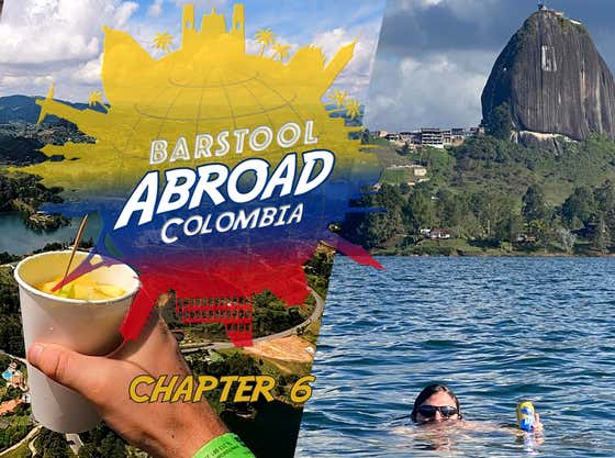 I'M OFFICIALLY A LAKE GUY AFTER A DAY IN GUATAPE | BARSTOOL ABROAD COLOMBIA CHAPTER 6