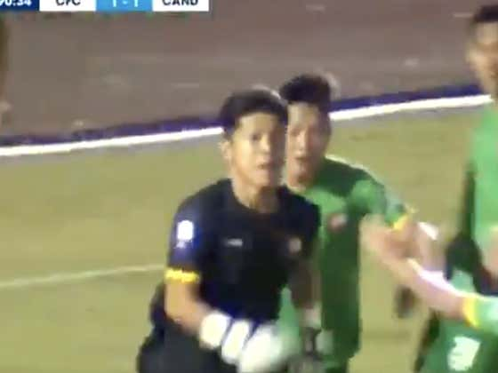 This Vietnamese Soccer Goalie Saved a Last Minute Penalty and Then Had the Best Celebration of All-Time