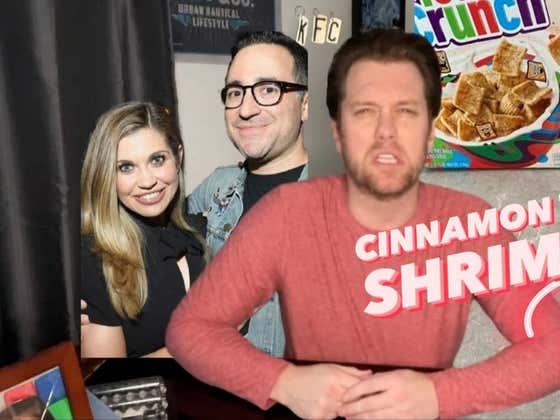 One Minute Man: Jensen Karp Finds Shrimp in Cereal