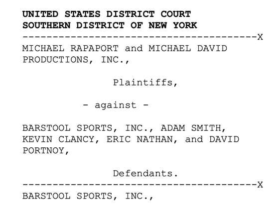 A Dramatic Reading Of The U.S. District Court's Entire 64 Page Decision Michael Rapaport V. Barstool Sports - LIVE NOW