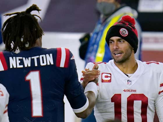 Steven A. Smith's Cam Newton-for-Jimmy Garoppolo Deal is the Most Ingenius Trade Proposal Ever