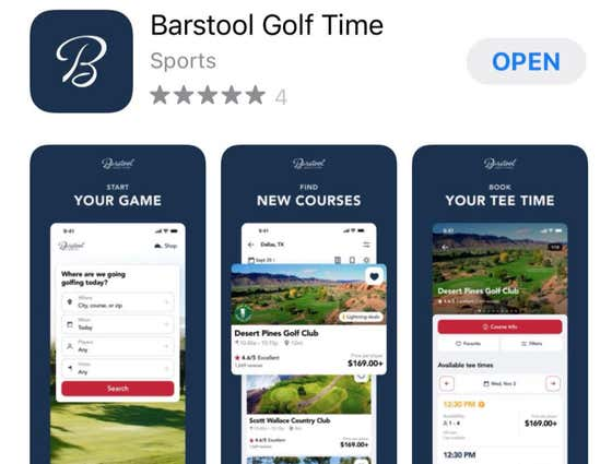 Need Tee Times? The Barstool Golf Time App Is Officially LIVE