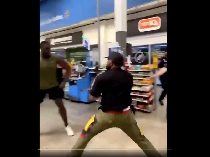 AT NO POINT Did Ex Raiders Tackle Bruce Campbell Get His Ass Whooped In A Wal-Mart This Weekend. But Somebody Else Sure As Fuck Did.