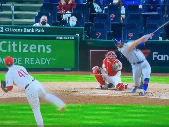 """A Fan Yelled At Pete Alonso That The """"Over/Under Is 9"""" With The Mets Up 6-2 In The 9th, So Alonso Decided To Immediately Jack A 2-Run Bomb 1 Second Later"""