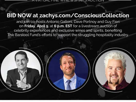 Bidding Is Open For Tomorrow Night's Barstool Fund Virtual Auction With Me And Guy Fieri