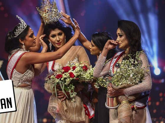 Sri Lankan Pageant Winner Has Crown Snatched Off Her Head
