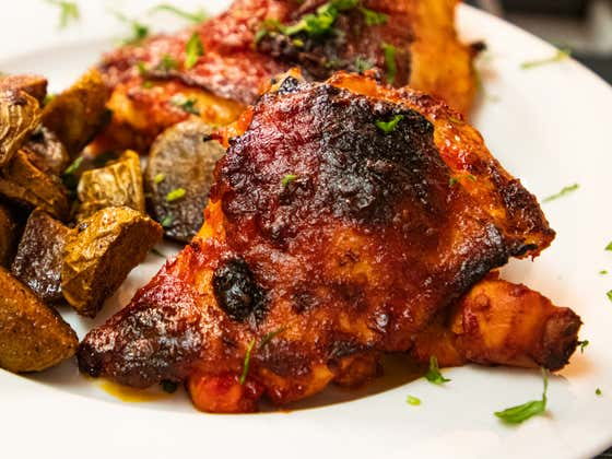 Spicy Harissa Chicken Thighs