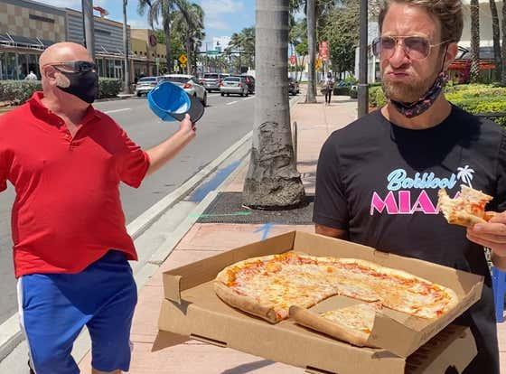 Barstool Pizza Review - I Love Pizza (Miami Beach, FL) Bonus Street Rapper