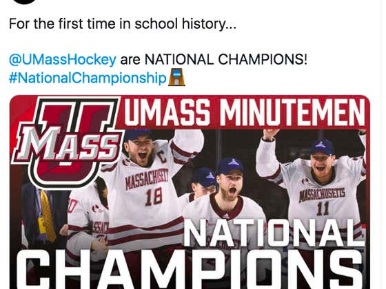 From The Bottom Of The Hockey East To National Champions In Just 5 Years; The UMass Minutemen Have Won The National Championship