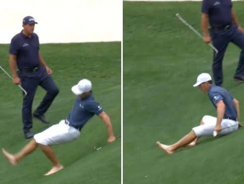 Billy Horschel Slips Going Barefoot Into Rae's Creek To Save Par On 13, Promptly Goes Into Psycho Mode The Rest Of The Way