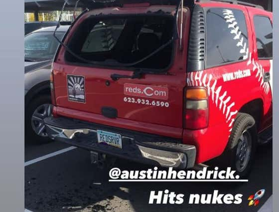 Reds Prospect Shows Up To Minor League Camp, Immediately Breaks The Window Of A Team Car With A 460 Foot Bomb