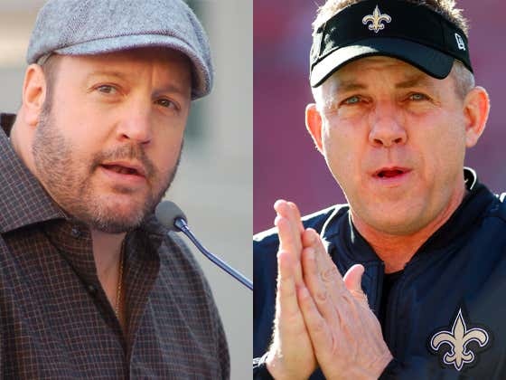 Doppelgänger Kevin James Will Play Sean Payton In An Upcoming Netflix Movie