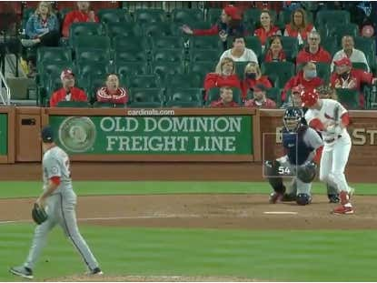 The Nats May Have Lost 14-3 But Hernán Pérez Stole The Show By Stomping Around The Mound Max Scherzer Style After Recording A Strikeout With A 54 MPH Breaking Ball