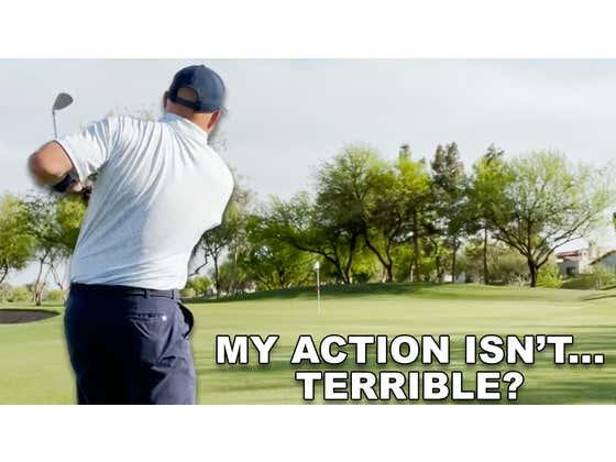 Practicing 40 Yard Chip Shots