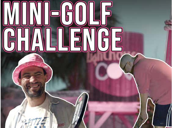 We Played Each Other In Mini Golf And It Was A Giant Mess - Pink Whitney Mini Golf Challenge